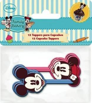 Mickey And Minnie Mouse - Cupcake Toppers - Pack Of 12 - Disney - NEW