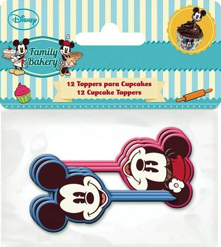 - Mickey And Minnie Mouse - Cupcake Toppers - Pack Of 12 - Disney - NEW