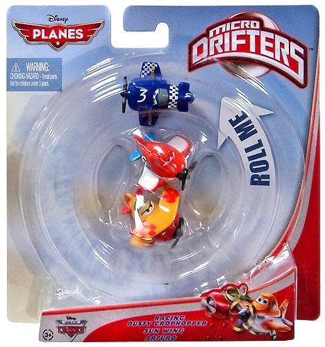 - Planes - Micro Drifters - Set Of 3 - Pixar - NEW