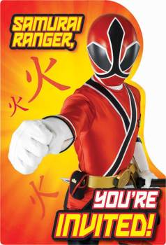 Power Rangers Samurai - Invitations - Set Of 8 - NEW