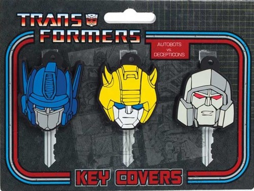 Transformers - Key Covers - Optimus, Bumblebee And Megatron - NEW
