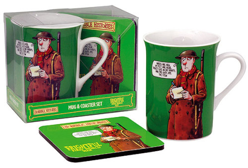 Horrible Histories - Cup / Mug & Coaster Set - Frightful First World War -