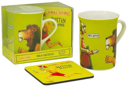 Horrible Histories - Cup / Mug & Coaster Set - Rotten Romans - NEW