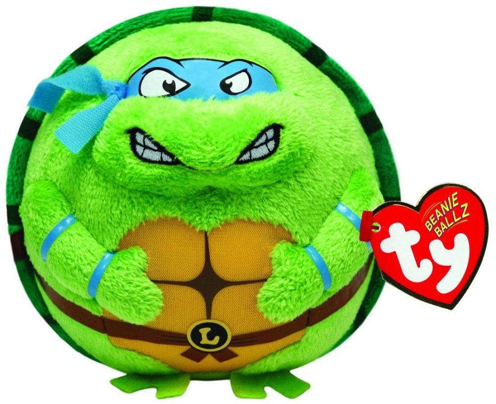 Teenage Mutant Ninja Turtles - Ty Beanie Ballz - Medium - 2014 - NEW
