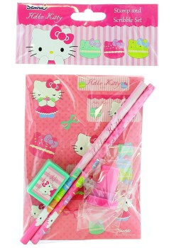 Hello Kitty - Stamp And Scribble Set - 2014 - NEW