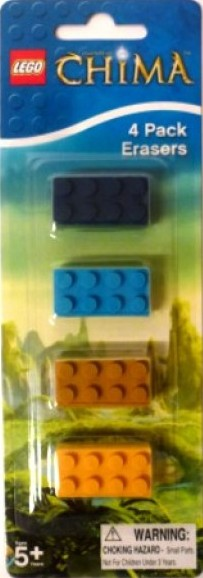 LEGO Chima - 4 Pack Erasers - NEW