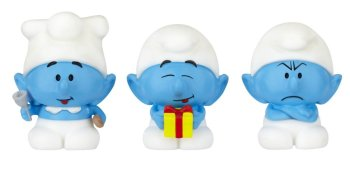 The Smurfs : Micro Village - Micro Smurf 3 Pack - Cook, Jokey And Grouchy - 2013 - NEW