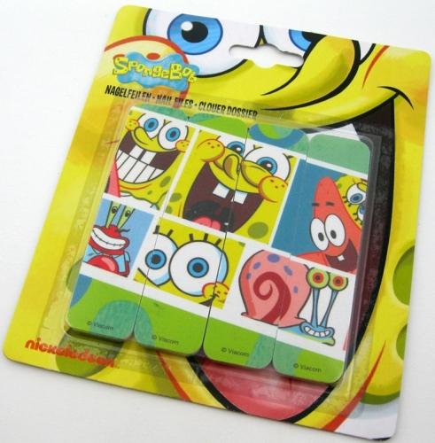 SpongeBob SquarePants Nail Files - Pack Of 4 - NEW