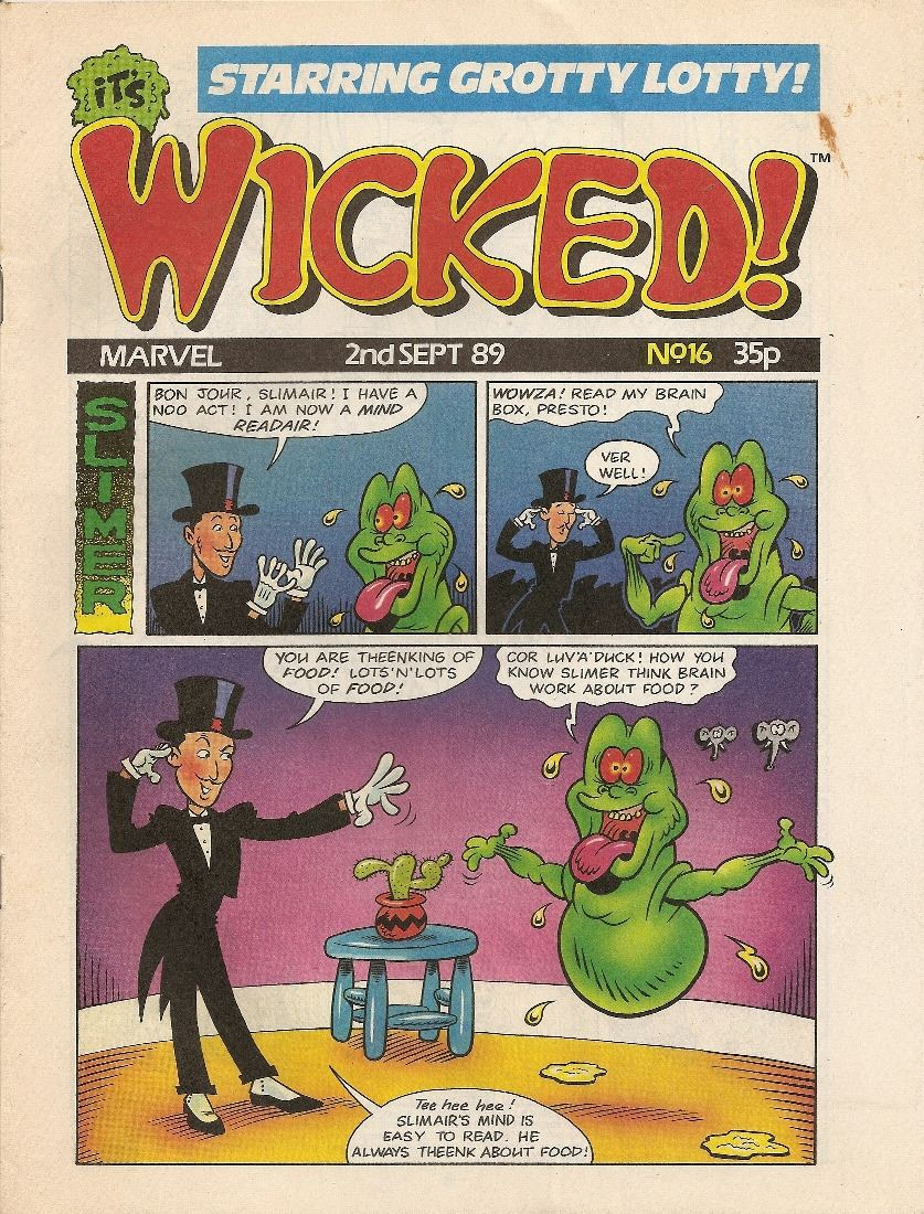 It's Wicked (Marvel) - Issue 16 - 2nd September 1989 - RARE
