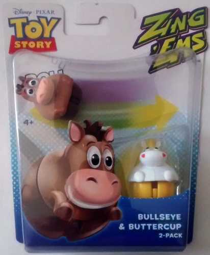 Toy Story - Zing Ems - 2 Pack - Bullseye And Buttercup - Pixar - NEW