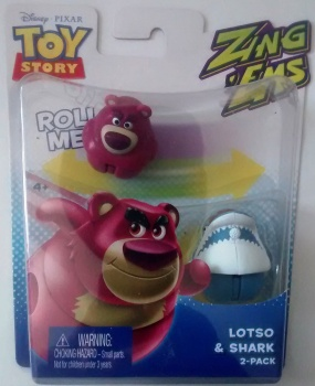 Toy Story - Zing Ems - Lotso And Shark - 2 Pack - Pixar - NEW