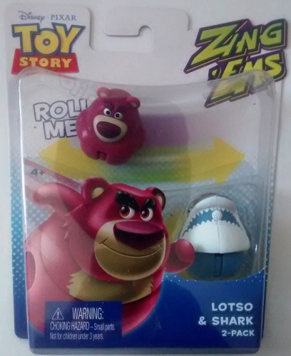 Toy Story - Zing Ems - 2 Pack - Lotso And Shark - Pixar - NEW