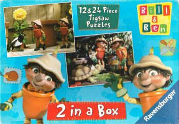Bill & Ben 2-In-A-Box Jigsaw Puzzle - 12 & 24 Pieces - Cbeebies - Ravensburger - 2000