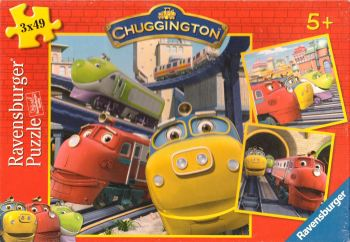 Chuggington 3-In-A-Box Jigsaw Puzzle - 3 x 49 Pieces - Cbeebies - Ravensburger - 2010 - NEW