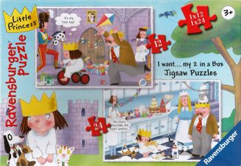 Little Princess 2-In-A-Box Jigsaw Puzzle - 12 & 24 Pieces - Ravensburger - 2007