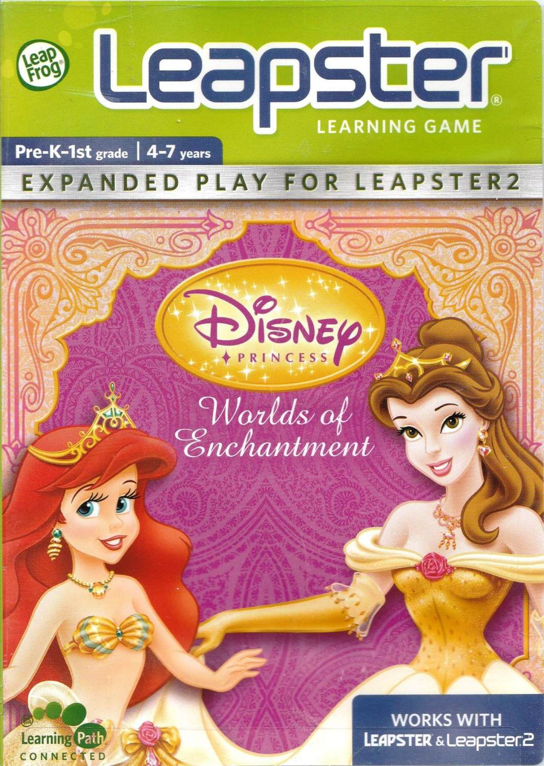 Disney Princess : Worlds Of Enchantment - Leap Frog Leapster - 4-7 Years -