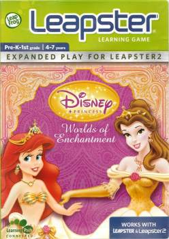 Disney Princess : Worlds Of Enchantment - Leap Frog Leapster - 4-7 Years - Disney - NEW