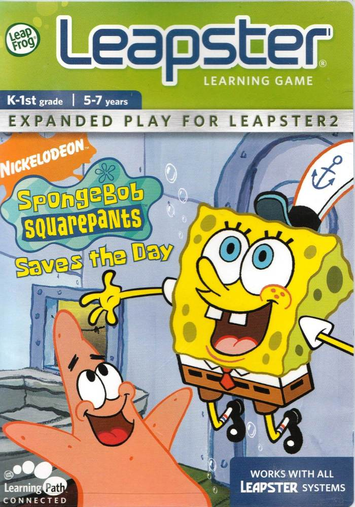 Spongebob Squarepants Saves The Day - Leap Frog Leapster - 5-7 Years - NEW