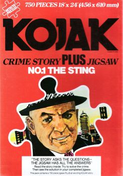 Kojak : The Sting - Crime Story Plus Jigsaw Puzzle - 750 Pieces - 1976 - NEW