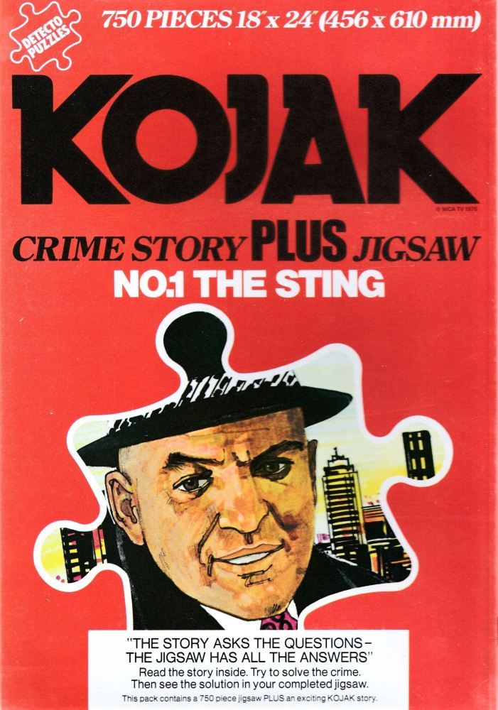 Kojak : The Sting - Crime Story Plus Jigsaw Puzzle - 750 Pieces - 1976 - NE