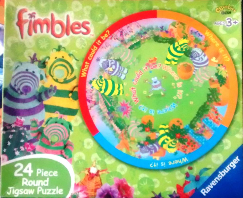 Fimbles Round Jigsaw Puzzle Double Sided 24 Pieces