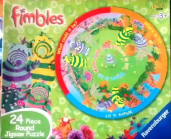 Fimbles Round Jigsaw Puzzle - Double Sided - 24 Pieces - Cbeebies - Ravensburger - 2002