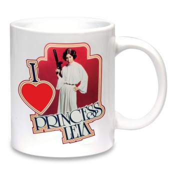 "Star Wars ""I ♥ Princess Leia"" Cup / Mug - NEW"