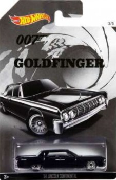 James Bond - Goldfinger Car - '64 Lincoln Continental - Hot Wheels - NEW