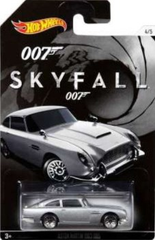 James Bond - Skyfall Car - Aston Martin 1963 DB5 - Hot Wheels - NEW