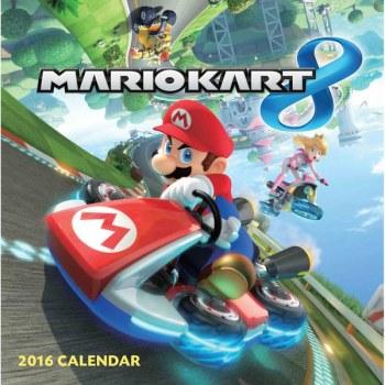 Mario Kart 8 Calendar 2016 - Nintendo - NEW