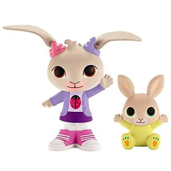 Bing - Coco & Baby Charlie Figure Set - Cbeebies - Fisher Price - 2015 - NEW