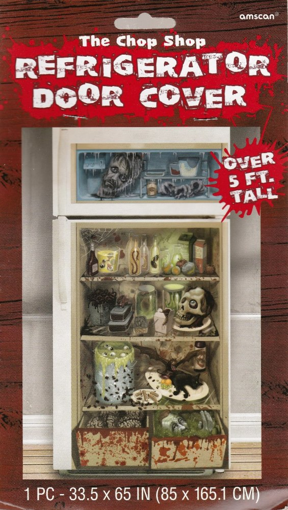 The Chop Shop - Halloween Refrigerator Door Cover - NEW