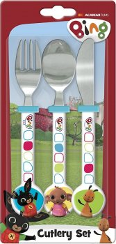 Bing - Three-Piece Cutlery Set - CBeebies - NEW