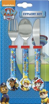 Paw Patrol - Three-Piece Cutlery Set - NEW
