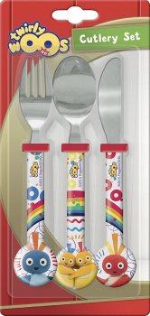 Twirlywoos - Three-Piece Cutlery Set - CBeebies - NEW