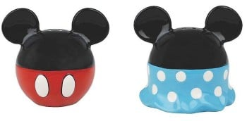 Mickey And Minnie Mouse - Salt And Pepper Pots / Shakers - Disney - NEW