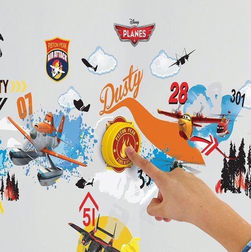 Planes 2 - Ringading Doorbell Vinyl Sticker Set - Disney - NEW
