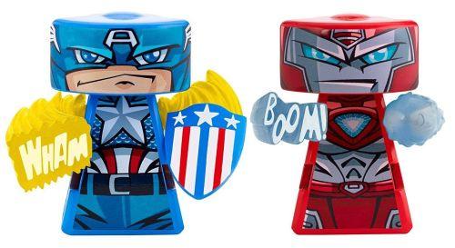 VS Rip-Spin Warriors - Captain America And Iron Man Figures - Marvel Comics