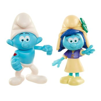 Smurfs : The Lost Village - 2 Figure Pack - Hefty Smurf And Smurfstorm - 2017 - NEW