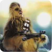 Star Wars : The Force Awakens - Chewbacca Lenticular 3D Coaster - NEW