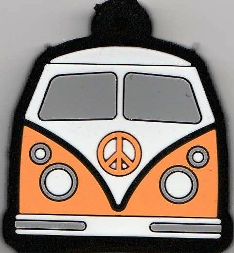Camper Van Key Cover - Orange - NEW