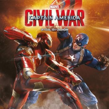Captain America : Civil War - Official 2017 Calendar - NEW