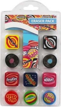Sweets Novelty Eraser Pack - Set Of 10 - NEW