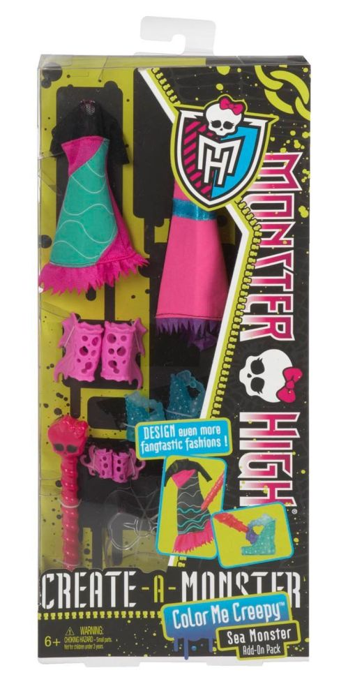 Monster High - Color Me Creepy Outfit - Add On Pack - Sea Monster - NEW - 2