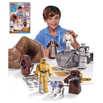 Star Wars - Blueprints Paper Craft - Droids On Tatooine - Desert Pack - NEW
