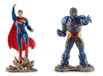 Justice League - Superman Vs Darkseid Figures - Schleich - NEW