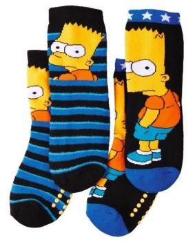 The Simpsons - Kids Plush Slipper Socks - 2 Pairs - NEW