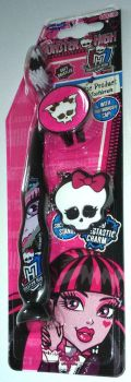 Monster High - Suction Cup Toothbrush With Cap And Charm - Pink - NEW - 2014