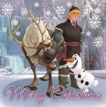 Frozen Mini Christmas Card - Kristoff, Sven And Olaf - NEW