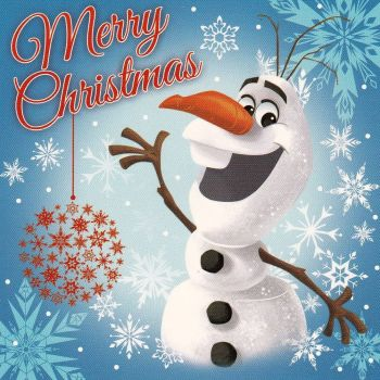 Frozen Mini Christmas Card - Olaf - NEW